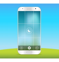Modern smartphones photo application template vector image