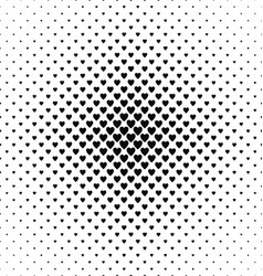 Monochrome heart pattern background design vector