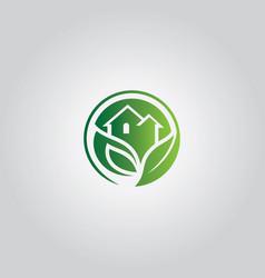 Nature home symbol logo vector