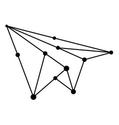 Network airplane abstract polygon vector