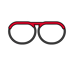 nice glasses accessory to can see vector image