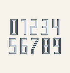 numbers font sport font with numbers and numeric vector image