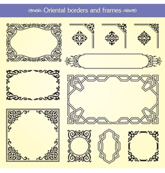 Oriental Asian Borders And Frames vector image