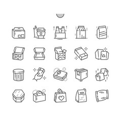 Packaging well-crafted pixel perfect thin vector