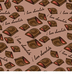 Pattern with chocolate vector