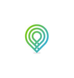 pixel point logo icon design vector image