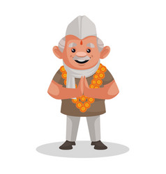 Politician cartoon character vector