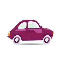 purple cartoon car vector image