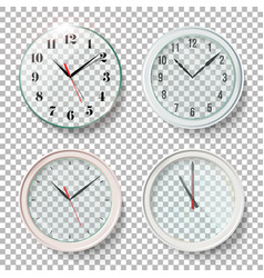 realistic wall clocks set vector image