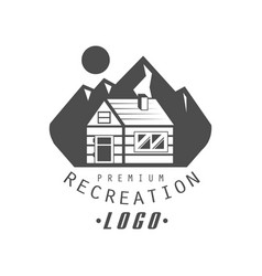 recreation premium quality logo design vintage vector image