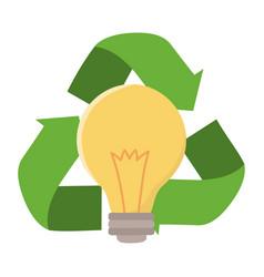 recycle icon represented arrows vector image