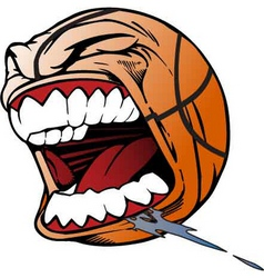 screaming basketball vector image