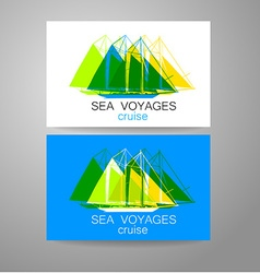 sea cruise vector image