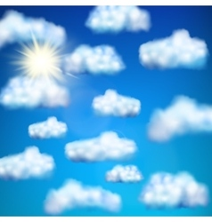 Set of clouds EPS 10 vector image