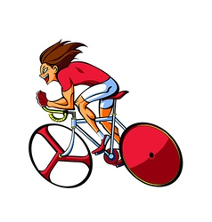 Side view of man riding bicycle vector image