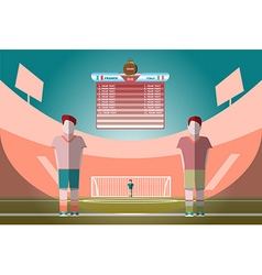 Soccer Match Scoreboard on a Playfield vector image