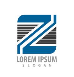 square line letter z concept design symbol vector image