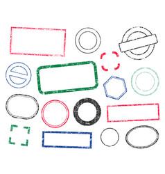 stamps frames icon shape set stamp grunge vector image