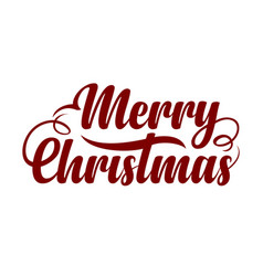 Text marry christmas vector