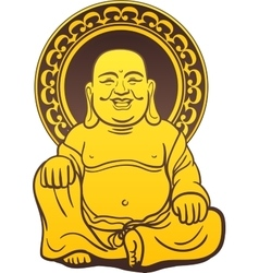 Thai Buddha Golden Statue vector image