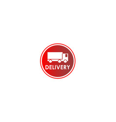Truck delivery icon vector