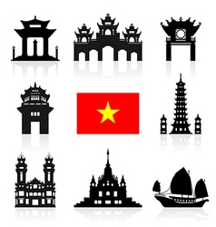 Vietnam Travel Icon vector image