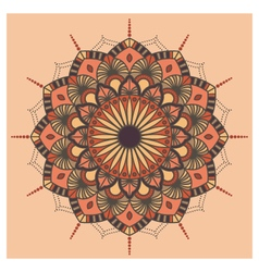 Vintage colorful Mandala with floral ornament vector image