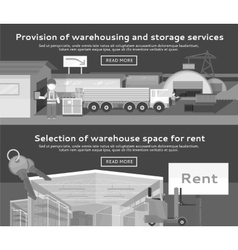 Warehouse Storage Service Product vector image