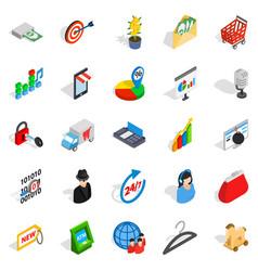 website development icons set isometric style vector image