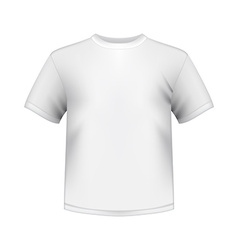 White round neck t-shirts male isolated vector