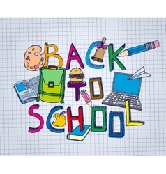 Back to School Test Book 01 A vector image vector image