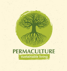 permaculture sustainable living creative vector image
