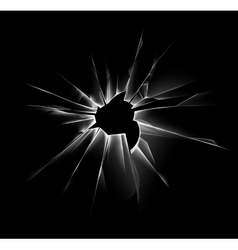 Shattered Window with Sharp Edges and Bullet holes vector image