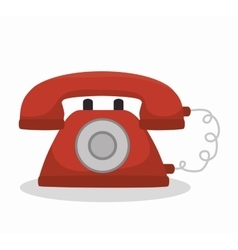 social media telephone isolated icon design vector image