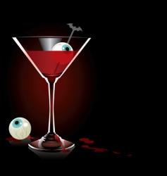 Vampire cocktail vector