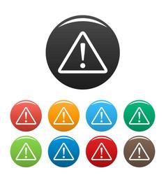 warning sign icons set vector image