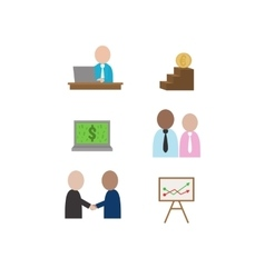 business of finance objects vector image