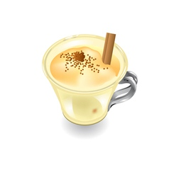 Eggnog on a white background vector
