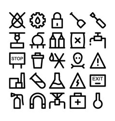 Industrial icons 6 vector