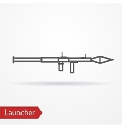 Launcher line icon vector image vector image