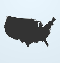 Silhouette of USA Map United states of America map vector image