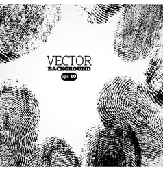 thumb finger print background vector image