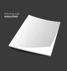 3D blank magazine or brochure vector image