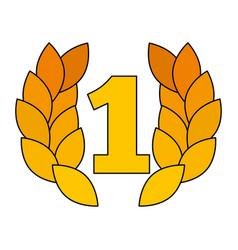 award number one laurel sport triumph vector image