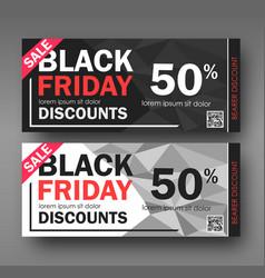 black friday sale design conceptual coupon vector image
