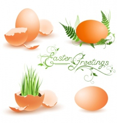 Easter collection vector image vector image