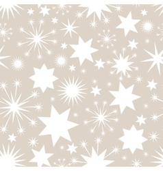Elegant Christmas seamless background with stars vector image