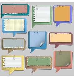 Torn paper speech bubbles vector image vector image