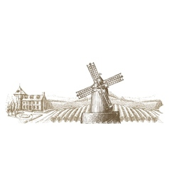 vineyard logo design template farm or vector image vector image