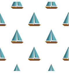 boat with sails pattern seamless vector image vector image